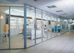 Trade partitions glass production, installation,
