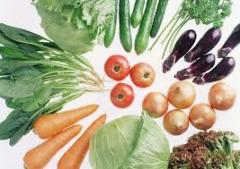 Organic vegetables sale
