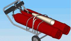 Передвижные углекислотные огнетушители ВВК-56 для