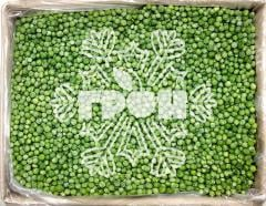 The green peas frozen