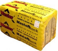 Теплоизоляционные материалы, Минеральная вата ТМ «Мастер»,  Вата Мастер-Рок 80