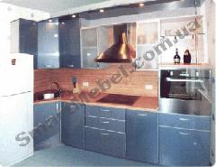 Кухня, крашеный МДФ фасад Артикул: S178