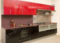 Kitchen, colored MDF facade Article: S170