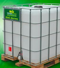 Carbamide and ammoniac mix with a potassium humate