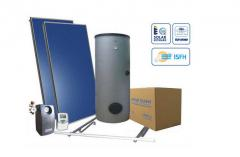 Heliosystems for heating of water in the house or