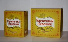 The mustard powder which is packed up (200 g, 400