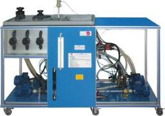 The test bench with the multipurpose pump