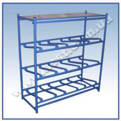 Racks for large bottles with water