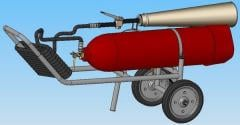 Вогнегасник вуглекислотний пересувний ВВК-18