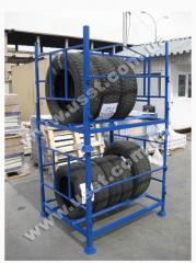 The container for storage of tires