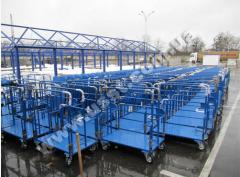 Carts for construction hypermarkets