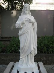 Статуя Иисуса Христа из белого бетона