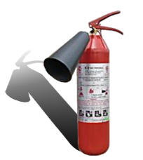 CO2 fire extinguisher (carbon dioxide) OU-3 (VVK