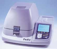 The microwave analyzer of fat and moisture in
