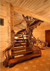 Spiral staircases wooden