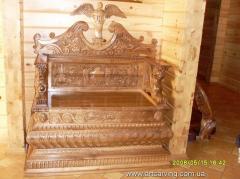 Furniture from natural mahogany
