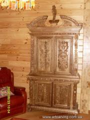 Шкафы из натурального дерева резные Украина