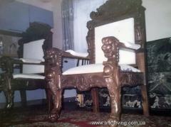 Chairs wooden of a beech, an ash-tree, an oak