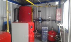 Roof boiler 100 kW with hot water supply