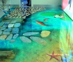 3D полы,  наливные полы,  декоративные полы...
