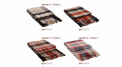 Plaids half-woolen Subway of 170x210 cm