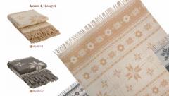 Couvertures, laine flocon de neige