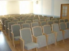 Chairs and assembly halls, auditoriums chairs,