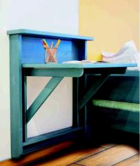 Wooden folding school desk
