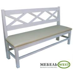 Semi-antique furniture, Bench the HIT in white