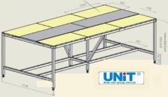 Table obvalochno-zhilovochny on six boards of UNIT