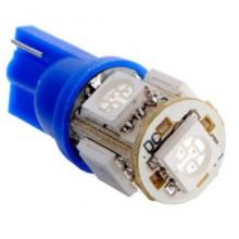 Светодтодная лампа  T10 5SMD чип 5050 синий