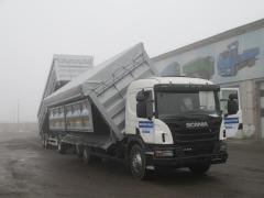 Dumping body on SCANIA P 410, lateral and back