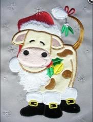 Embroideries Cow New Year's