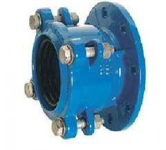 Connector pipe and flange for pig-iron pipes.