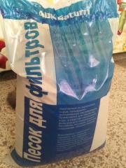 Кварцевый песок для водоочистки 25 кг 0,4-0,8 мм