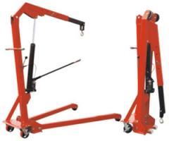 The crane is manual mobile hydraulic