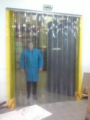 Curtains are polyethylene