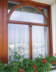 Windows from a qualitative pine bar from the