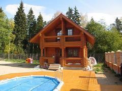 Bath, bath felling, wooden houses, arbor from a