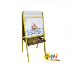 Children's easel bilateral yellow