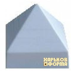 Формы колпаков для столбов № 3, код товара: 391