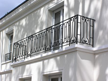 Кованые ограждения для балконов, террас