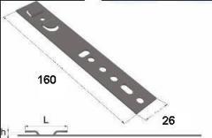 Anchor plate for metaloplastikovy windows