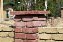 Кришки бетонні на паркани