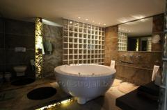 Плитка в ванную из гибкого сланца