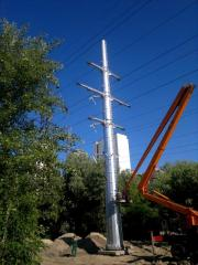 Support of a contact network and high voltage line