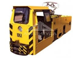 Electric locomotives mine contact and accumulator