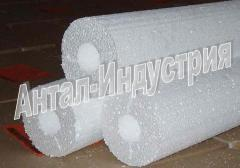 Heat-insulating cylinders from polystyrene
