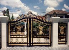 Fences metal for cottages