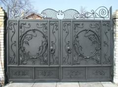 Gate are metal oar